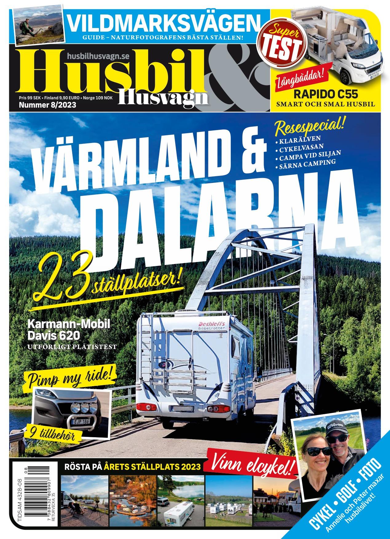 Omslaget till senaste utgåvan av tidningen Husbil & Husvagn.