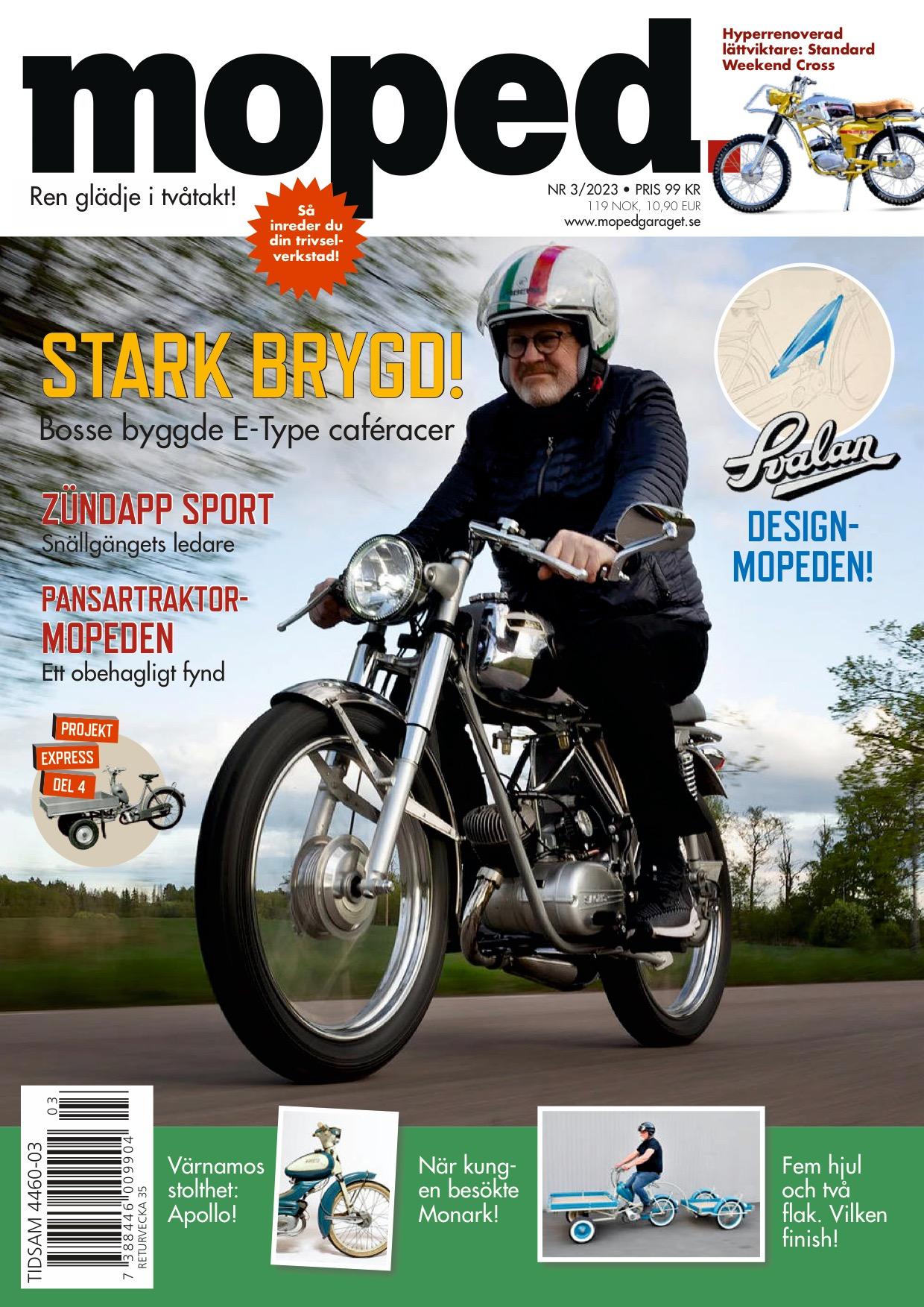 Omslaget till senaste utgåvan av tidningen Moped.