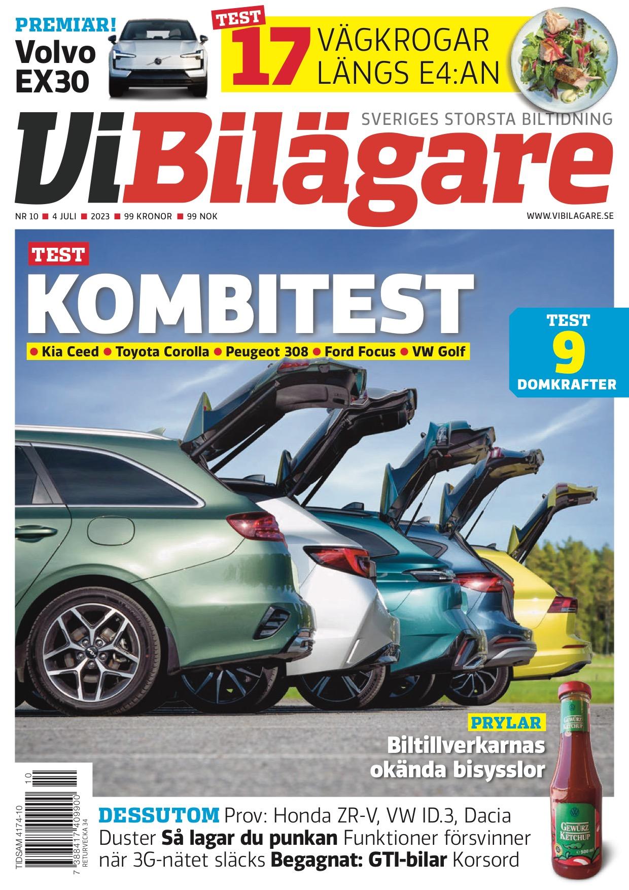 Omslag till senaste utgåvan av tidningen Vi Bilägare